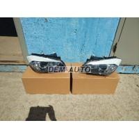 Фара левая+правая (комплект) тюнинг линзованная с диодами внутри черная