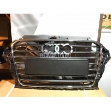 Решетка радиатора с хромированным молдингом , темно-серая на                                                                                  Ауди А3 8В