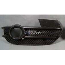 Audi q3 /  Решетка бампера передняя правая с отверстием под противотуманку (Китай) - Dem-Yug