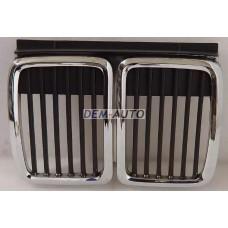 Решетка радиатора центральная хромированно-черная на БМВ Е30