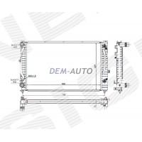 Радиатор охлаждения 1,6/1,8/1,9TDI/2,0/2,3 MT/AT