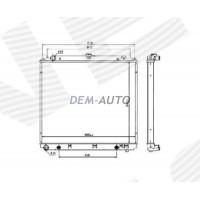 Радиатор охлаждения 2,5 dCi MT/AT