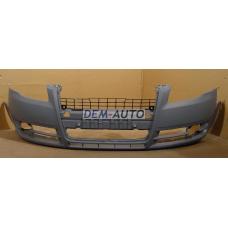 Audi a4  Бампер передний без отверстий под омыватели фар грунтованный - Dem-Yug