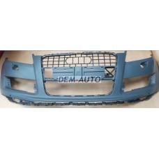 Audi q7 //  Бампер передний с отверстием под омыватель , под датчики , грунтованный - Dem-Yug