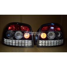 Audi a3  Фонарь задний внешний левый+правый (КОМПЛЕКТ) (3дв) тюнинг (SONAR) внутри хромированный-черный - Dem-Yug