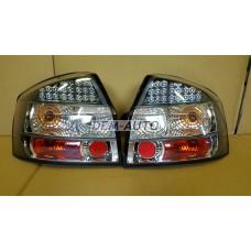 Audi a4+ (sonar)- Фонарь задний внешний левый+правый(КОМПЛЕКТ)(СЕДАН)тюнинг хрустальный с диодами внутри хромированный-черный - Dem-Yug