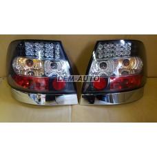 Audi a4  Фонарь задний внешний левый+правый (КОМПЛЕКТ) тюнинг хрустальный с диодами (SONAR)внутри хромированный-черный - Dem-Yug