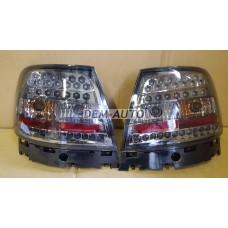 Audi a4  Фонарь задний внешний левый+правый(КОМПЛЕКТ)(СЕДАН)тюнинг с диодами тонированный(EAGLE EYES) внутри хромированный - Dem-Yug