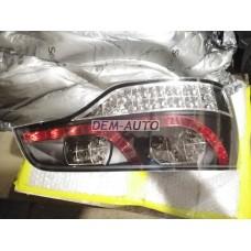 Audi q7+(sonar)- Фонарь задний внешний левый+правый (КОМПЛЕКТ) тюнинг с диодами прозрачный(SONAR) внутри черный-хромированный - Dem-Yug