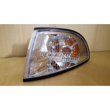 Audi a4 {s4}  Указатель поворота угловой левый тюнинг прозрачный внутри хромированный - Dem-Yug