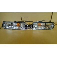 Указатель поворота нижний левый+правый (КОМПЛЕКТ) в бампер тюнинг прозрачный хрустальный на БМВ Е30