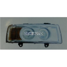 Audi 80. Фара правая тюнинг линзованная с указателем поворота внутри хром - Dem-Yug