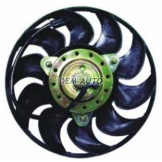 Audi 80 {ai100 91-94/a6 95-(180w 280mm)}  Мотор+вентилятор радиатора охлаждения в сборе (180W 280mm) - Dem-Yug