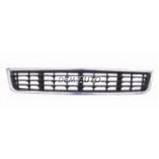 Audi a4 - Решетка бампера передняя центральная хромированная-черная - Dem-Yug