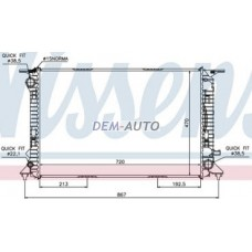 Audi a4 {a5 07-//a6 11-/ a7 10-}  Радиатор охлаждения(NISSENS) (см.каталог) - Dem-Yug