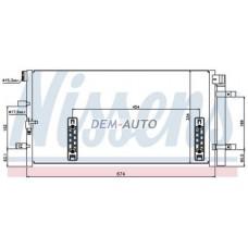 Audi a4 {a6 11-}  Конденсатор кондиционера(NISSENS)(см.каталог) - Dem-Yug