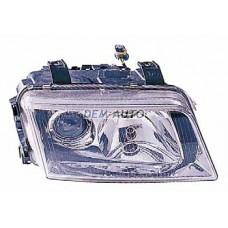 Audi a4 {s4}  Фара правая тюнинг линзованная прозрачная внутри хромированная - Dem-Yug