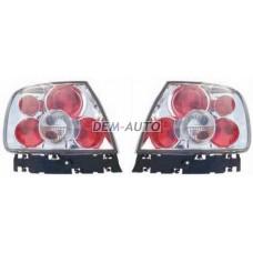 Audi a4  Фонарь задний внешний левый+правый(КОМПЛЕКТ)(LEXUS ТИП) прозрачный внутри хромированный - Dem-Yug
