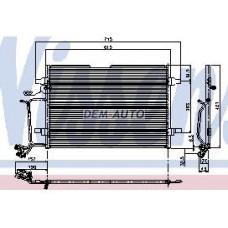 Audi a4  Конденсатор кондиционера (NISSENS) (NRF) (GERI) (см.каталог) - Dem-Yug