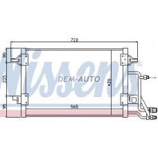 Конденсатор кондиционера (565x420mm)(NISSENS) (AVA) (см.каталог) на                                                                                  Ауди А4 Б5 рестайлинг