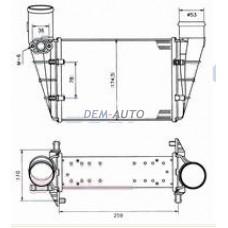 Audi a4 {a6 97-/passat 96-} (.) Радиатор охлаждения(см.каталог) ИНТЕРКУЛЕР!!! - Dem-Yug