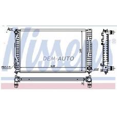Audi a4 {a6 97-04/passat 01-}  Радиатор охлаждения (NISSENS) (NRF) (GERI)(см.каталог) - Dem-Yug