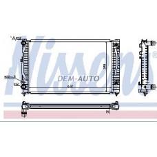 Audi a4 {a6 97-/passat 96-}  Радиатор охлаждения (NISSENS) (AVA) (см.каталог) - Dem-Yug