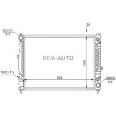 Audi a4  Радиатор охлаждения (см.каталог) - Dem-Yug