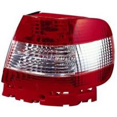 Audi a4+(depo) - Фонарь задний внешний левый+правый(КОМПЛЕКТ)(СЕДАН)тюнинг прозрачный хрустальный красный-белый - Dem-Yug
