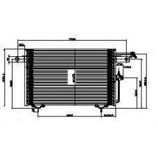 Конденсатор кондиционера (см.каталог) на Ауди 100 Ц4