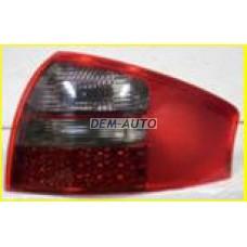 Audi a6  Фонарь задний внешний левый+правый (КОМПЛЕКТ) тюнинг (СЕДАН) с диодным стоп сигналом тонировано-красный - Dem-Yug