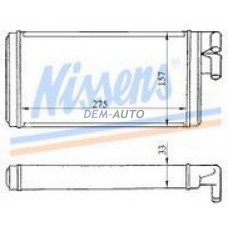 Audi 100 {200/a6 94-97/}  Радиатор отопителя (NISSENS) (AVA) (см.каталог) - Dem-Yug
