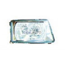 Audi 100  Фара правая тюнинг хрустальная прозрачная внутри хром - Dem-Yug