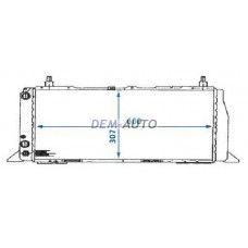 Радиатор охлаждения 1.8 с кондиционером {600mm X 309mm} на Ауди 100 Ц3