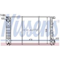 Радиатор охлаждения (NISSENS) (см.каталог) на БМВ Е32