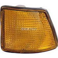 Указатель поворота угловой левый желтый на БМВ Е32