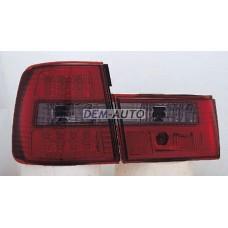 Фонарь задний внешний+внутренний левый+правый (комплект) тюнинг (СЕДАН) прозрачный с диодами (SONAR) тонированный внутри красно-тонированный на БМВ Е34