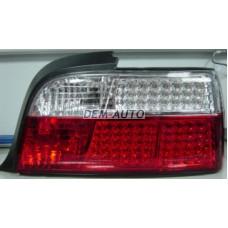Фонарь задний внешний левый+правый (КОМПЛЕКТ) (КУПЕ) (кабриолет)диодный стоп сигнал , указатель поворота хрустальный красно-белый на БМВ Е36