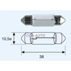 Sv8 { sv8.5 (10 x 37mm)12v-5w} (10 ) blick Лампа упаковка (10 шт)