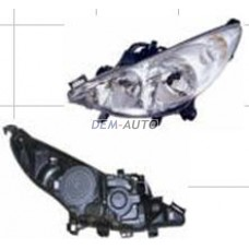 207. (depo) Фара левая без противотуманки с регулирующим мотором - Dem-Yug