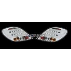 207+. (junyan) Фонарь заднийвнешний левый+правый (комплект) тюнингс диодами и светящимися секциями (JUNYAN) внутри хром - Dem-Yug