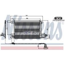 Конденсатор кондиционера (NISSENS) (AVA) (см.каталог) на                                                       Ауди А3 8П