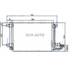 Конденсатор кондиционера (см.каталог) на                                                       Ауди А3 8П