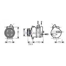 Компрессор кондиционера (см.каталог) (AVA) на                                                       Ауди А3 8П