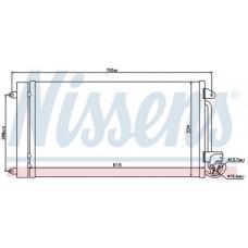 Конденсатор кондиционера (см.каталог)(NISSENS) на                                                                                                             Ауди А1 Тур 8х