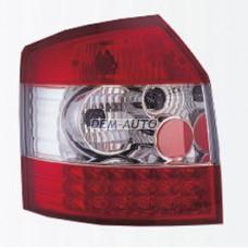 Audi a4+(sonar) -x Фонарь задний внешний левый+правый (КОМПЛЕКТ) (УНИВЕРСАЛ)) тюнинг диодный (SONAR)внутри красно-хромированный - Dem-Yug