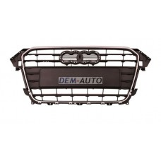 Audi a4  Решетка радиатора серебристая с хромированным молдингом (Тайвань) - Dem-Yug
