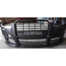 Audi a6 / /  Бампер передний с отверстиями под омыватели фар, под датчики (Китай) - Dem-Yug