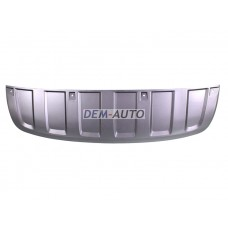 Audi q7  Накладка переднего бампера передняя серая - Dem-Yug