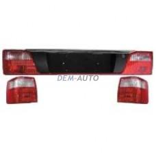 Audi 100 + +(3) Фонарь задний внешний+внутренний левый+правый (комплект) (3шт) тюнинг прозрачный хрустальный красный - Dem-Yug